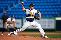 Canisius College Golden Griffins relief pitcher Tyler Smith (20) delivers a pitch during the second game of a doubleheader against the Michigan Wolverines on February 20, 2016 at Tradition Field in St. Lucie, Florida.  Michigan defeated Canisius 3-0.  (Mike Janes/Four Seam Images)