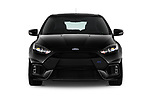 Car photography straight front view of a 2017 Ford Focus RS 5 Door Hatchback Front View