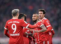 02.12.2017,  Football 1.Liga 2017/2018, 14. match day, FC Bayern Muenchen - Hannover 96, in Allianz-Arena Muenchen. re: Arturo Vidal (FC Bayern Muenchen) . *** Local Caption *** © pixathlon<br /> <br /> +++ NED + SUI out !!! +++<br /> Contact: +49-40-22 63 02 60 , info@pixathlon.de
