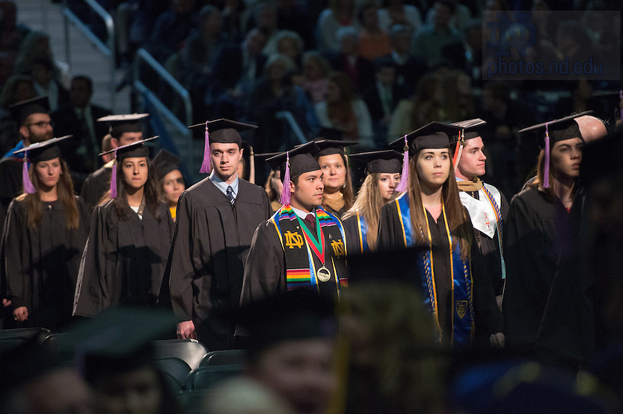 May 14, 2016; Commencement Mass academic procession. (Photo by Matt Cashore/University of Notre Dame)