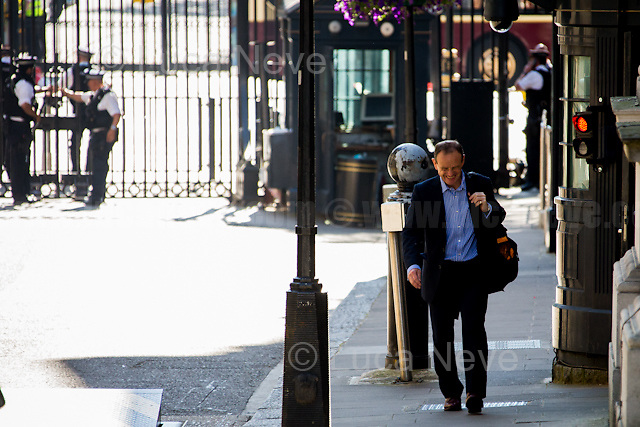 Norman Smith (British journalist, Chief Political Correspondent and Assistant Political Editor of BBC News).<br /> <br /> London, 19/07/2016. First Cabinet meeting at 10 Downing Street (after the EU Referendum and consequent David Cameron's resignation) for the new Prime Minister Theresa May and her newly formed Conservative Government.<br /> <br /> For more information about the Cabinet Ministers: https://www.gov.uk/government/ministers
