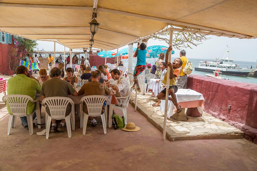 Outdoor Restaurant at the Hostellerie du Chevalier de Boufflers, Goree Island, Senegal.