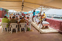 Outdoor Restaurant at the Hostellerie du Chevalier de Boufflers, Goree Island, Senegal.