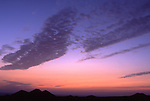 Afrika, ESP, Spain, Canary Islands, Lanzarote, Dusk, Formation of clouds, Volcanic Landscape