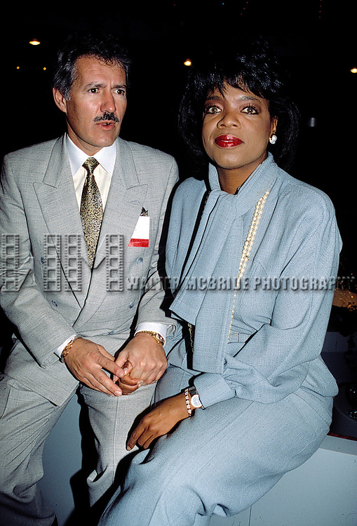 Oprah Winfrey and Alex Trebek<br /> Attending the N.A.T.P.E. TV Convention in New Orleans.<br /> January 1990