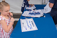 Orlando, FL - Wednesday March 07, 2018: Young fan at the U.S. Soccer Festivities during the She Believes Final Cup Match featuring USA Women's National Team vs. Englands Women's National Team
