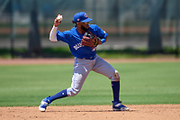 Toronto Blue Jays shortstop Hugo Cardona (26) throws the ball around during an Extended Spring Training game against the Philadelphia Phillies on June 12, 2021 at the Carpenter Complex in Clearwater, Florida. (Mike Janes/Four Seam Images)