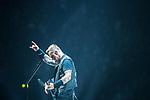 © Joel Goodman - 07973 332324 . 28/10/2017 . Manchester , UK . James Hetfield . Metallica perform at the Manchester Arena . Photo credit : Joel Goodman