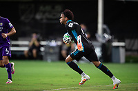 LAKE BUENA VISTA, FL - JULY 31: Pedro Gallese #1 of Orlando City SC catches the ball during a game between Orlando City SC and Los Angeles FC at ESPN Wide World of Sports on July 31, 2020 in Lake Buena Vista, Florida.