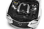 Car Stock 2015 Lexus RC F Sport 2 Door Coupe 2WD Engine high angle detail view