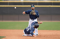 Seattle Mariners second baseman Joseph Rosa (9) during a Minor League Spring Training game against the San Diego Padres at Peoria Sports Complex on March 24, 2018 in Peoria, Arizona. (Zachary Lucy/Four Seam Images)