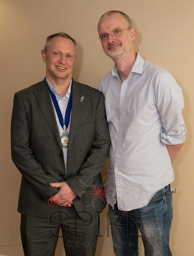NCBC Club President Mark Deakin and Guest Speaker Iain Simons of the National Videogame Foundation