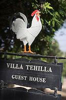 """Asie/Israël/Galilée/Rosh Pina: """"Villa Tehilla """" Maison d'Hote détail decoration enseigne"""