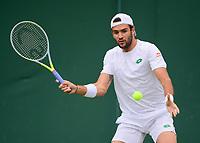 3rd July 2021; Wimbledon, SW London. England; Wimbledon Tennis Championships, day 6;  Matteo Berrettini ITA