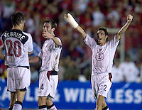 Frankie Heijduk celebrates after a Brian McBride goal against Panama in the first half in Panama City, Panama, Wednesday, June 8, 2005.