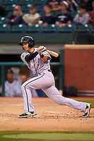 Jacksonville Suns shortstop Austin Nola (36) at bat during a game against the Chattanooga Lookouts on April 30, 2015 at AT&T Field in Chattanooga, Tennessee.  Jacksonville defeated Chattanooga 6-4.  (Mike Janes/Four Seam Images)