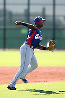 Hanser Alberto - Texas Rangers - 2010 Instructional League.Photo by:  Bill Mitchell/Four Seam Images..