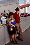 Chelsea Flower Show, London Uk. Couple last day going home london uk. 1990s.