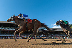 September 05, 2020: Mystic Guide #7, ridden by Jose Ortiz, trained by Michael Stdham wins the Jim Dandy on Woodward Stakes day at Saratoga Race Course in Saratoga Springs, New York. Rob Simmons/CSM