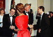 United States President Bill Clinton greets Carlo Ponti, Jr. as President Romano Prodi of Italy greets actress Sophia Loren during the Official White House Dinner in Washington, D.C. on May 6, 1998..Credit: Ron Sachs / CNP