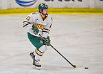 13 February 2015: University of Vermont Catamount Defender Gina Repaci, a Junior from Toronto, Ontario, in first period action against the University of New Hampshire Wildcats at Gutterson Fieldhouse in Burlington, Vermont. The Lady Catamounts fell to the visiting Wildcats 4-2 in the first game of their weekend Hockey East series. Mandatory Credit: Ed Wolfstein Photo *** RAW (NEF) Image File Available ***