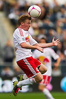 Dax McCarty (11) of the New York Red Bulls. The New York Red Bulls defeated the Philadelphia Union 3-0 during a Major League Soccer (MLS) match at PPL Park in Chester, PA, on October 27, 2012.