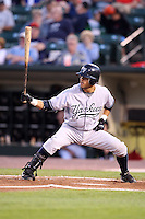September 4, 2009:   Reegie Corona of the Scranton Wilkes-Barre Yankees at bat during a game at Frontier Field in Rochester, NY.  Scranton is the Triple-A International League affiliate of the New York Yankees and clinched the North Division Title with a victory over Rochester.  Photo By Mike Janes/Four Seam Images