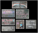 Chalk sidewalk art in Mill Valley, CA