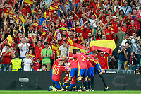 Spain's players celebrate goal during FIFA World Cup 2018 Qualifying Round match. September 2,2017.(ALTERPHOTOS/Acero)