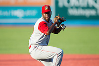 Brooklyn Cyclones starting pitcher Alberto Baldonado (28) in action against the Hudson Valley Renegades at Dutchess Stadium on June 18, 2014 in Wappingers Falls, New York.  The Cyclones defeated the Renegades 4-3 in 10 innings.  (Brian Westerholt/Four Seam Images)