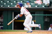 Buffalo Bisons second baseman Munenori Kawasaki (66) at bat during a game against the Columbus Clippers on July 19, 2015 at Coca-Cola Field in Buffalo, New York.  Buffalo defeated Columbus 4-3 in twelve innings.  (Mike Janes/Four Seam Images)