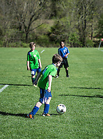 Youth soccer game.