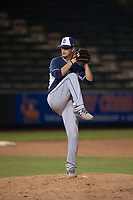 AZL Padres 2 relief pitcher Noel Vela (54) delivers a pitch during an Arizona League game against the AZL Angels at Tempe Diablo Stadium on July 18, 2018 in Tempe, Arizona. The AZL Padres 2 defeated the AZL Angels 8-1. (Zachary Lucy/Four Seam Images)