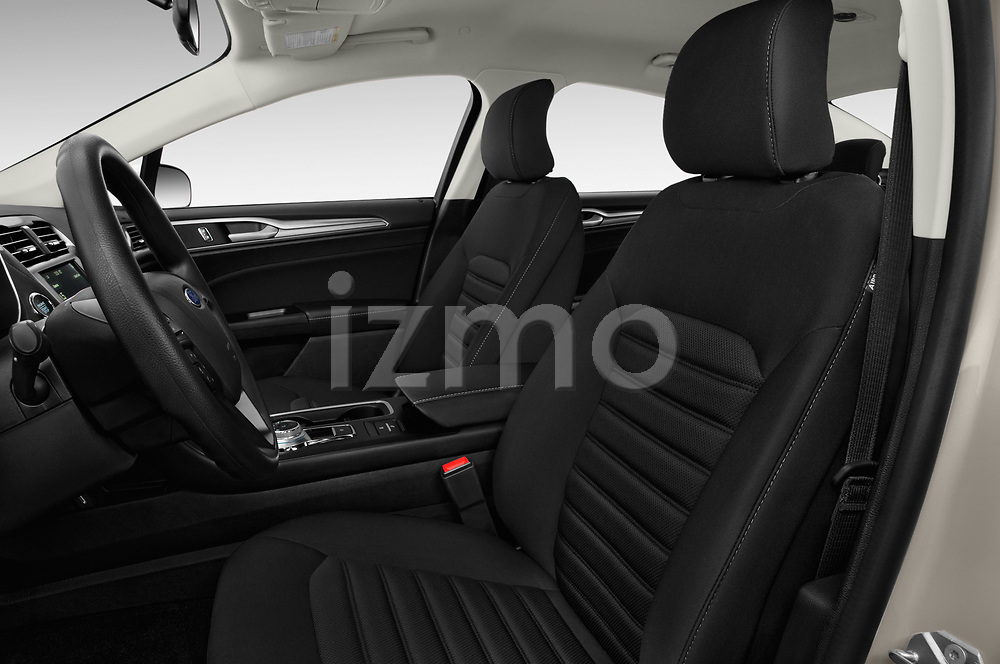 Front seat view of a 2018 Ford Fusion Hybrid SE 4 Door Sedan front seat car photos