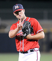 11 April 2008: RHP Michael Nix (51) of the Mississippi Braves, Class AA affiliate of the Atlanta Braves, in a game against the Mobile BayBears at Trustmark Park in Pearl, Miss. Photo by:  Tom Priddy/Four Seam Images
