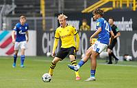 16th May 2020, Signal Iduna Park, Dortmund, Germany; Bundesliga football, Borussia Dortmund versus FC Schalke; Schalke's Jean-Clair Todibo passes away from BVB's Julian Brandt