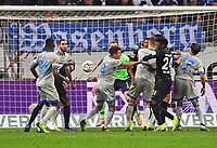 Evan N'Dicka (Eintracht Frankfurt) bereitet das 3:0 vor per Kopfball - 11.11.2018: Eintracht Frankfurt vs. FC Schalke 04, Commerzbank Arena, DISCLAIMER: DFL regulations prohibit any use of photographs as image sequences and/or quasi-video.