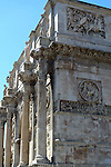 The Arch of Constantine  in the Monti district of Rome.