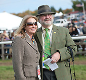 Guy and Beverly Torsilieri in the paddock at Far Hills.