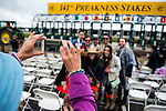 BALTIMORE, MD - MAY 21: Fans take photos in front of the starting gate for the Preakness Stakes on Preakness Day at Pimlico Race Course on May 21, 2016 in Baltimore, Maryland. (Photo by Douglas DeFelice/Eclipse Sportswire/Getty Images)
