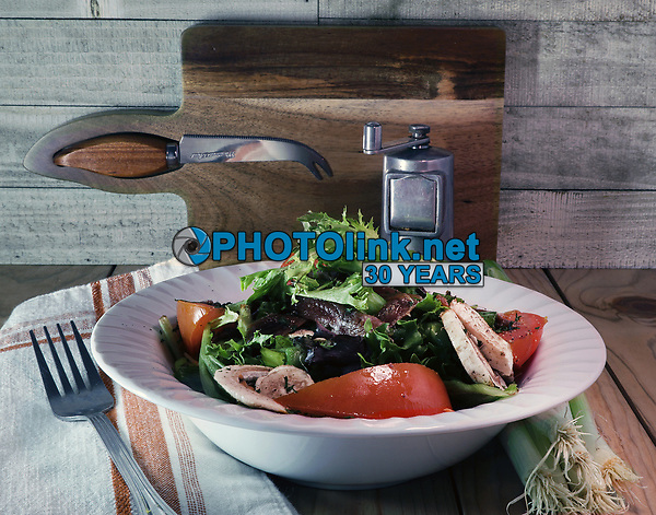 Tomato/Mushroom/Anchovy Salad<br /> TableTopPhotoShop.com<br /> The Passionate Pursuit of Rustic Photography<br /> Photographed by Adam Scull