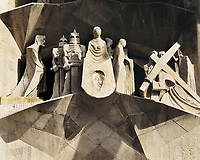 SUBIRACHS, Josep Maria (1927). Holy Family. Façade of Passion. 1987-2002. SPAIN. Barcelona. Expiatory Church of the Holy Famil