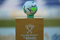 26th August 2020; Estadio Vila Capanema, Curitiba, Brazil; Copa Do Brasil, Parana Clube versus Botafogo; The game ball is seen moments before the match