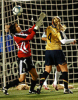 Cat Whitehill scores. .USA 4, Mexico 0.PGE Park, Portland OR, October 17, 2007.