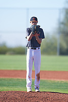 Joshua Mullineaux Idell (50), from Novato, California, while playing for the Giants during the Under Armour Baseball Factory Recruiting Classic at Red Mountain Baseball Complex on December 28, 2017 in Mesa, Arizona. (Zachary Lucy/Four Seam Images)