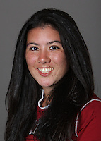 STANFORD, CA - OCTOBER 29:  Julia Ishiyama of the Stanford Cardinal women's lacrosse team poses for a headshot on October 29, 2009 in Stanford, California.