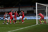 27th March 2021; Dens Park, Dundee, Scotland; Scottish Championship Football, Dundee FC versus Dunfermline; Lee Ashcroft of Dundee comes close to scoring with a header