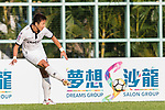 Dong Hun Yoon of Dreams FC in action during the Dreams FC vs Wofoo Tai Po match of the week one Premier League match at the Aberdeen Sports Ground on 26 August 2017 in Hong Kong, China. Photo by Yu Chun Christopher Wong / Power Sport Images