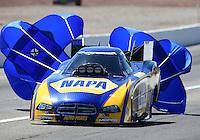 Mar 30, 2014; Las Vegas, NV, USA; NHRA funny car driver Ron Capps during the Summitracing.com Nationals at The Strip at Las Vegas Motor Speedway. Mandatory Credit: Mark J. Rebilas-