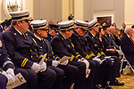 WATERBURY, CT. 20 December 2019-122019BS243 - Members of the Waterbury Fire Department looks on, during the Fire Chief swearing in ceremonies at City Hall on Friday. Terry Ballou replaces former Fire Chief David Martin, who retired earlier this year. Bill Shettle Republican-American